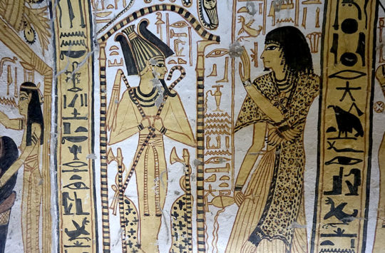 Painting in the tomb of Nakhtamon.