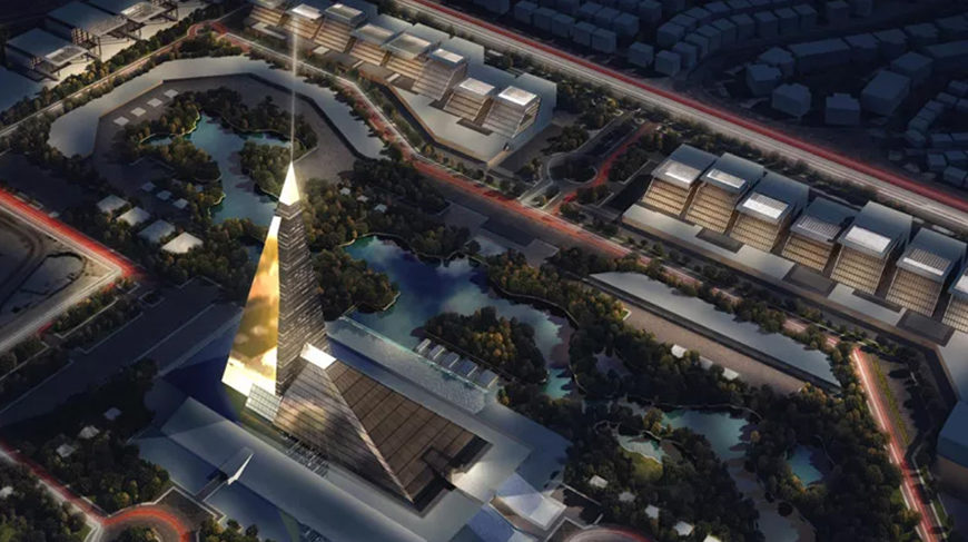 Visual of the Zayed Crystal Tower.