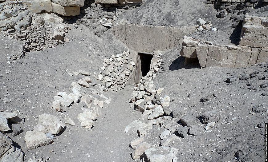 Entrance of the Hawara Pyramid.