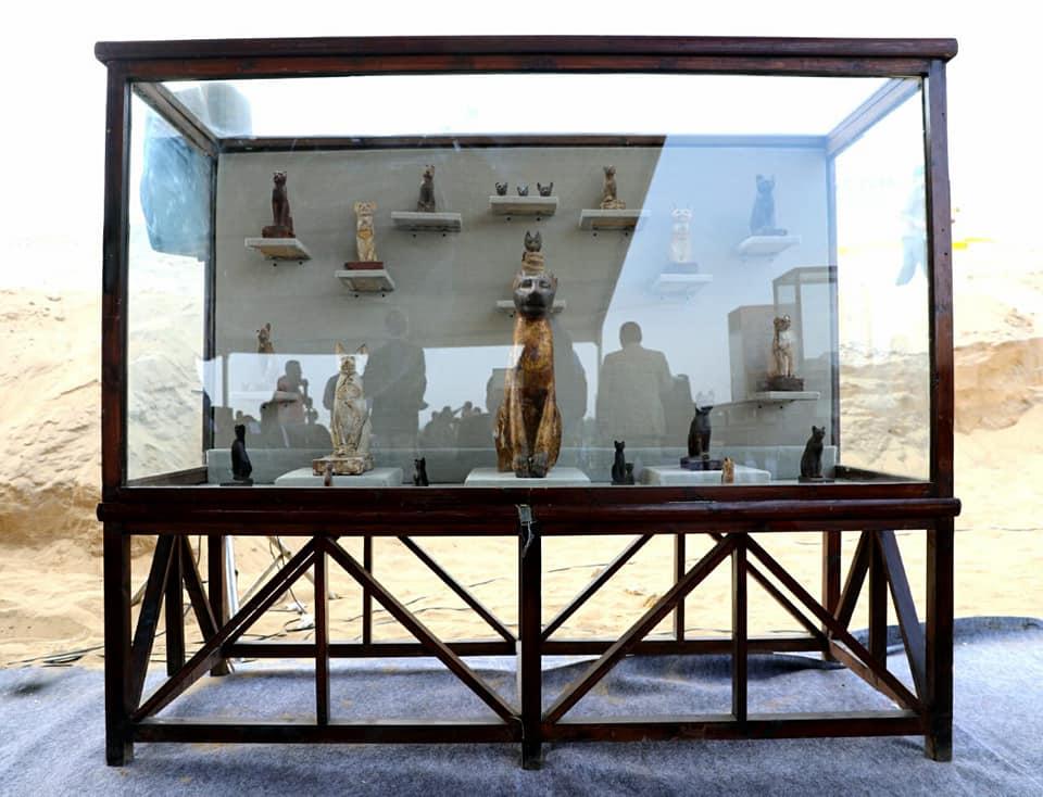 Beelden van katten ontdekt bij Saqqara.