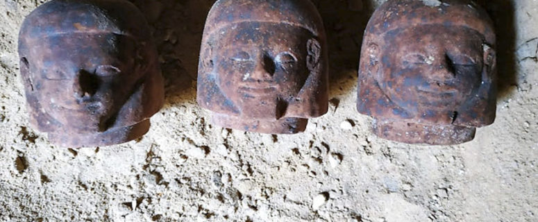 Burial shaft discoverd at Fayoum.