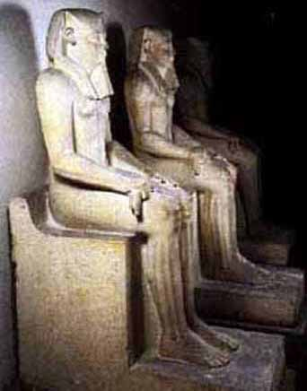 Statue's of pharaoh Senusret I at Cairo Museum.