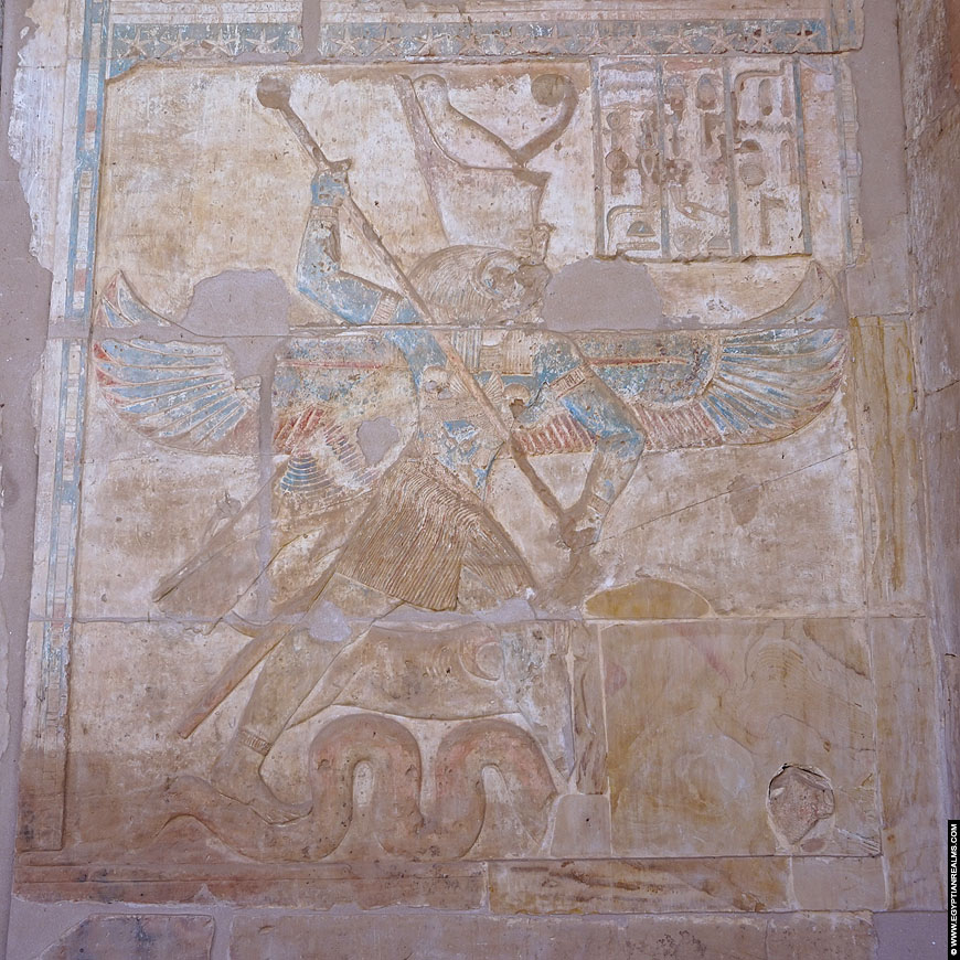 Relief of Horus and Set from the Hibis Temple.