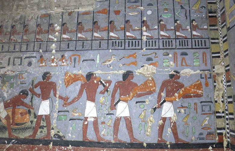 Tomb found at Saqqara, image Ahram Online.