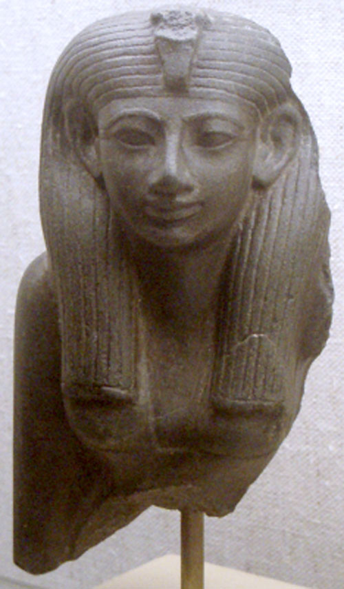 Statue of queen Hatjepsut in the Museum Of Fine Arts Boston