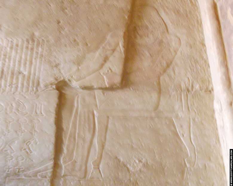 Visor Inefert depicted on a wall in his mastaba at Saqqara