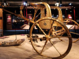 Golden chariot of pharaoh Tutankhamun