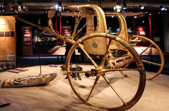 Golden chariot of pharaoh Tutankhamun
