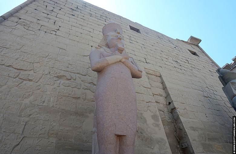 Statue of Ramesses II in front of the Luxor Temple
