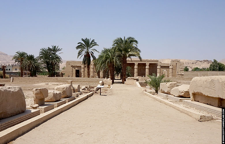 Temple of pharaoh Seti I at westbank Luxor.