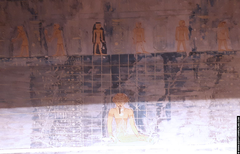 Inside the tomb of Ramesses IX at Valley of the Kings.