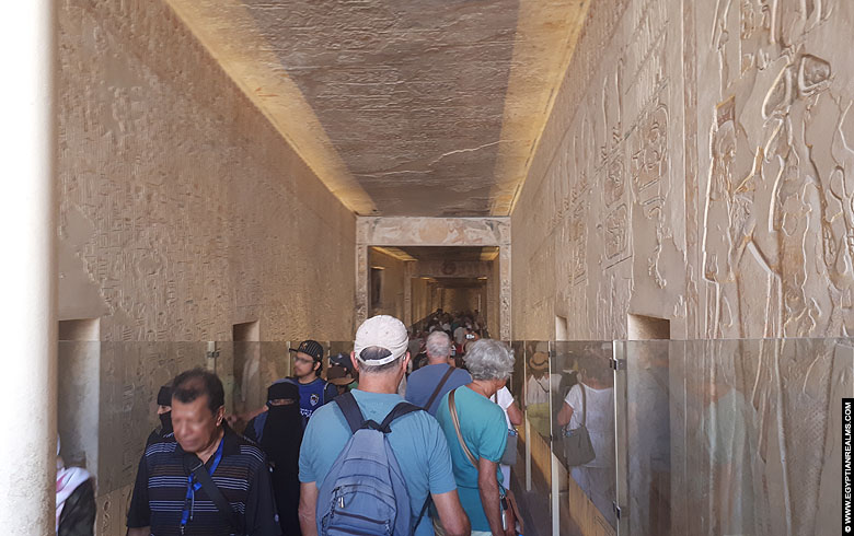 Inside the tomb of Ramesses IX at Valley of the Kings