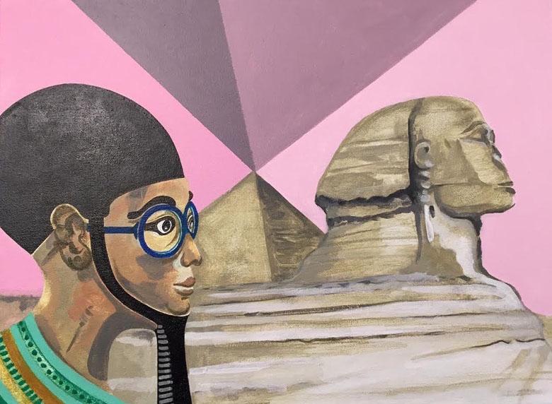 Oud-Egyptische artist impression door M. Drevijn.