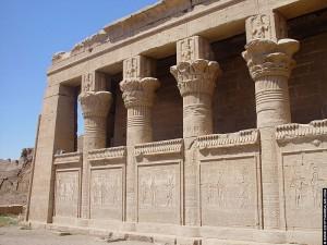 Geboortehuis naast de Dendera tempel