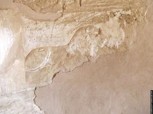 Relief van een Leeuw op een muur