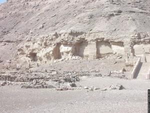 Zicht op de berg naast de tempel