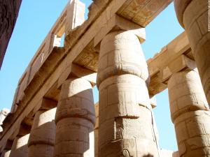 Pilaren van de Karnak Tempel