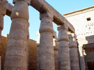 Pilaren van de Luxor Tempel