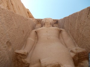 Kolossaal beeld van Ramses II