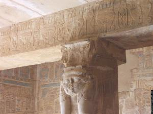 Hathor in de tempel van El-Kab