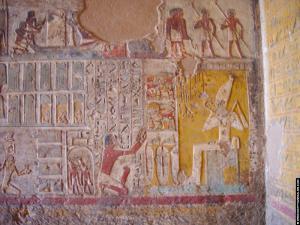 Relief van Pahery voor Osiris
