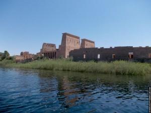 Philae tempel op een eiland