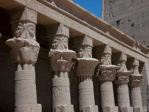 Pilaren met het hoofd van Hathor