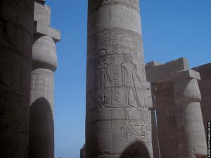 Pilaren in de tempel