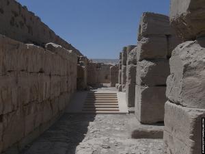 Gallerij in de tempel van RamsesI