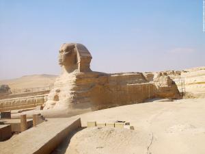 De Grote Sphinx in onderhoud